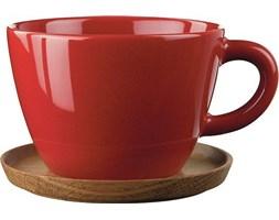 Filiżanka z podstawką do herbaty Höganäs Keramik czerwona