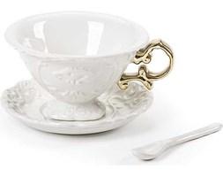 Filiżanka do herbaty ze spodkiem i łyżeczką I-Wares Gold