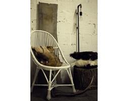 Wiklinowy fotel biały FST0081