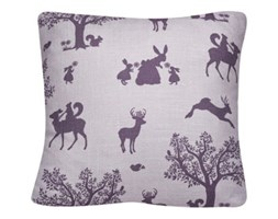 """Poduszka """"Zaczarowany las"""" w kolorze bakłażanu na fioletowym tle"""