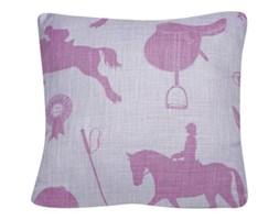 """Poduszka """"Konie"""" w kolorze różowo fioletowym"""