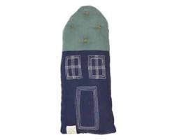 """Poduszka """"Mały Domek"""" w kolorze niebieskim"""