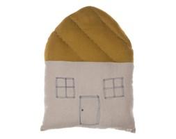 """Poduszka """"Duży Dom"""" w kolorze żółtym i beżowym"""