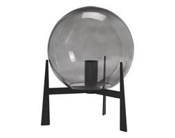 Lampa stołowa szklana kula Milla szaro-czarna