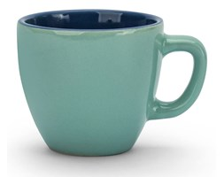 Filiżanka do espresso ceramiczna TESCOMA CREMA SHINE TURKUSOWA 80 ml