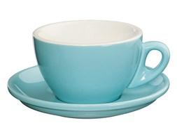 Filiżanka do espresso porcelanowa ze spodkiem CILIO ROMA BŁĘKITNA 100 ml