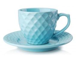 Filiżanka do kawy i herbaty ceramiczna ze spodkiem DIAMOND CALM NIEBIESKA 200 ml