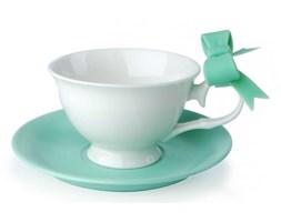 Filiżanki do kawy i herbaty porcelanowe ze spodkami KOKARDA MIĘTOWE 210 ml 2 szt.