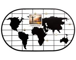 Ramka na zdjęcia z motywem mapy świata, stojak do wieszania zdjęć, 60 x 35 cm