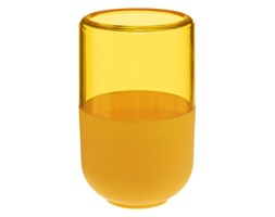Kubek na szczoteczki do zębów, pojemnik, kolor żółty