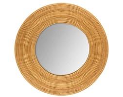 Okrągłe lustro dekoracyjne, ścienne w drewnianej oprawie, Ø 31 cm