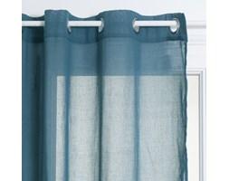 Zasłona okienna, poliestrowa, dekoracja na okno, 140 x 240 cm, kolor niebieski