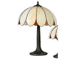 Gustowny Klasyczny Design TESSO LAMPA DUŻA Lampka Stołowa Klosz Witraż Podstawa Metal Oświetlenie Retro LED Oprawa CANDELLUX
