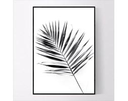 Plakat Czarno biały liść