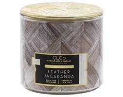 Candle-lite CLCo świeca zapachowa drewniany knot 396 g - Leather Jacaranda