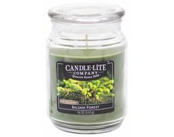 Świeca zapachowa Candle-lite duża w szkle 510 g - Balsam Forest