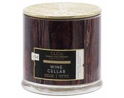 Candle-lite CLCo świeca zapachowa drewniany knot 396 g - Wine Cellar