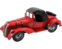 Replika auta czerwona z kołem zapasowym, 35x15x15 cm