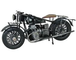 MOTOCYKL III replika metalowa motoru czarna, 37x17x14 cm