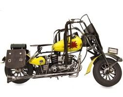 MOTOCYKL replika motoru czarno-żółta, 39x23x12 cm
