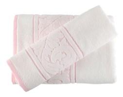 Zestaw białego ręcznika i ręcznika kąpielowego Sultan