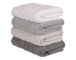 Komplet 4 brązowo-białych ręczników bawełnianych Sofia, 50x90 cm