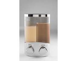 Srebrny podwójny dozownik mydła Compactor Uno, objętość 2x310 ml
