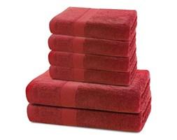 Komplet 2 czerwonych ręczników kąpielowych i 4 ręczników DecoKing Marina