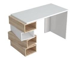 Białe biurko z jasnobrązowymi detalami Damon, szer. 120 cm