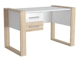 Białe biurko z jasnobrązowymi detalami Farley, szer. 124 cm