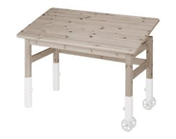 Brązowe biurko z drewna sosnowewgo z regulacją blatu Flexa Elegant