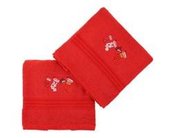 Zestaw 2 czerwonych świątecznych ręczników Stockings, 70x140 cm