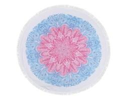 Kolorowy ręcznik plażowy ze 100% bawełny Sri Lanka, ⌀ 150 cm