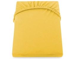 Żółte prześcieradło elastyczne DecoKing Nephrite, 160–180 cm