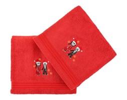 Komplet 2 czerwonych bawełnianych ręczników Cift Red, 70x140 cm