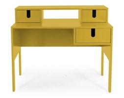 Żółte biurko se 3 šuplíky Tenzo Uno