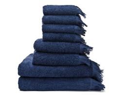Zestaw 6 granatowych ręczników i 2 ręczników kąpielowych ze 100% bawełny Bonami
