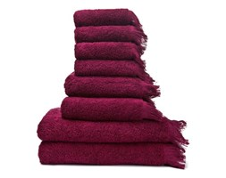 Zestaw 6 bordowych ręczników i 2 ręczników kąpielowych ze 100% bawełny Bonami
