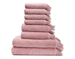 Zestaw 6 różowych ręczników i 2 ręczników kąpielowych ze 100% bawełny Bonami