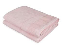 Zestaw dwóch różowych ręczników kąpielowych Baroque, 150x90 cm