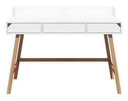 Białe biurko dziecięce z drewna dębowego BELLAMY Lotta