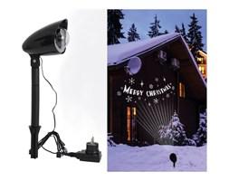 Lampa zewnętrza oświetlająca dom Naeve Merry Christmas