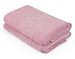Zestaw 2 różowych ręczników z bawełny Sultania, 70x140 cm