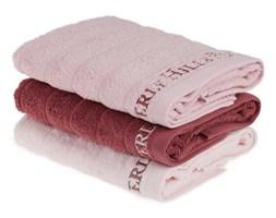 Zestaw 3 różowych ręczników do rąk, 90x50 cm
