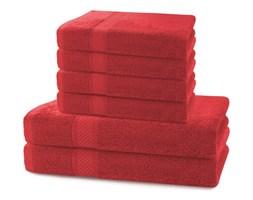 Komplet 2 czerwonych ręczników kąpielowych i 4 ręczników DecoKing Bamby