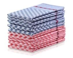 Komplet 5 niebieskich i 5 czerwonych bawełnianych ścierek DecoKing Checkered