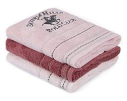 Zestaw 3 różowych ręczników, 90x50 cm