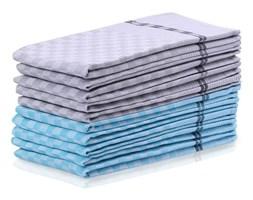 Komplet 5 niebieskich i 5 szarych bawełnianych ścierek DecoKing Checkered