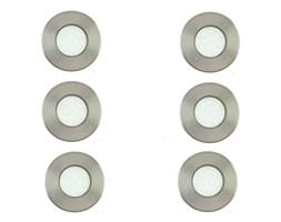 LAMEDO-Komplet 6 reflektorków LED zewnętrznych do zabudowy Biała Ciepła Nikiel Ø10cm