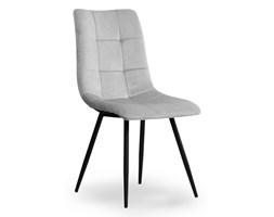 Krzesło BN jasno szary aksamit / czarny